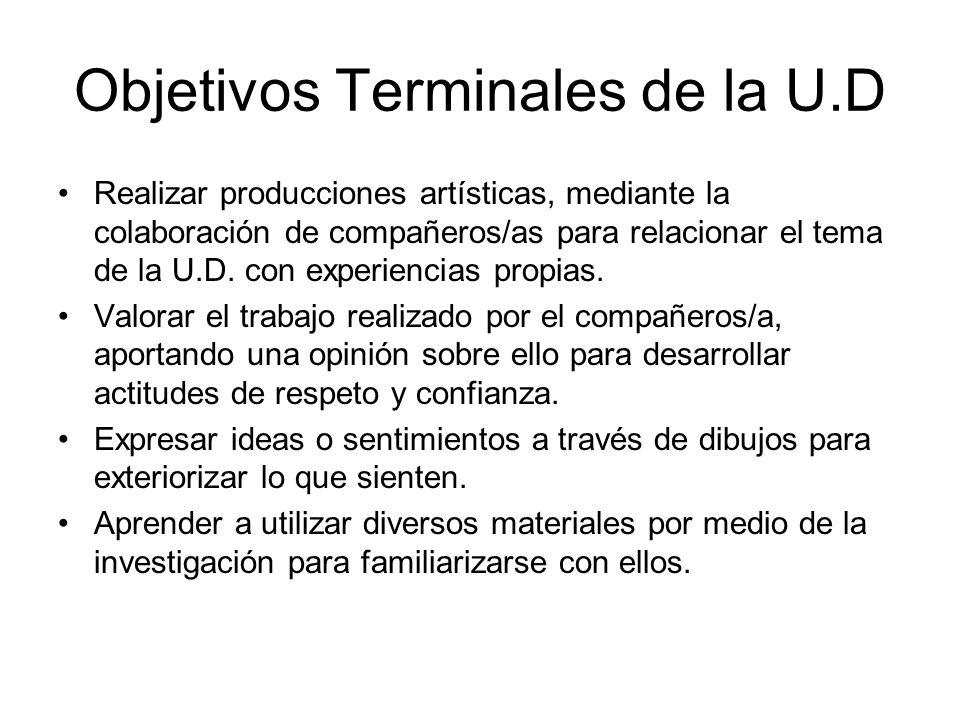Objetivos Terminales de la U.D