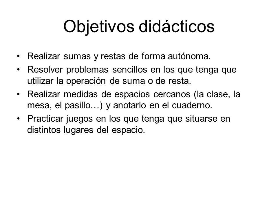 Objetivos didácticos Realizar sumas y restas de forma autónoma.