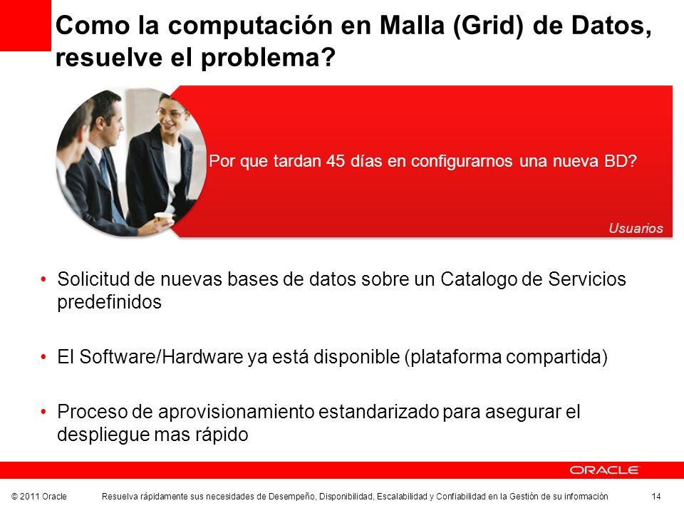 Como la computación en Malla (Grid) de Datos, resuelve el problema