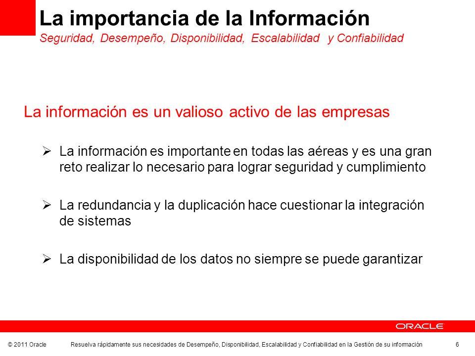 La importancia de la Información Seguridad, Desempeño, Disponibilidad, Escalabilidad y Confiabilidad
