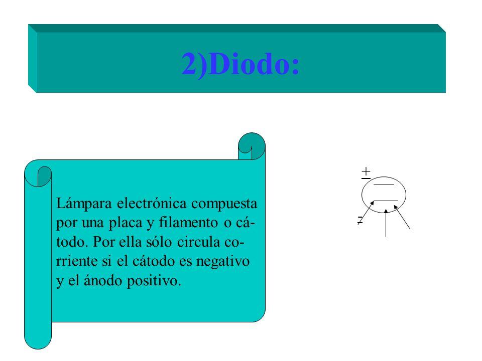 2)Diodo: + Lámpara electrónica compuesta
