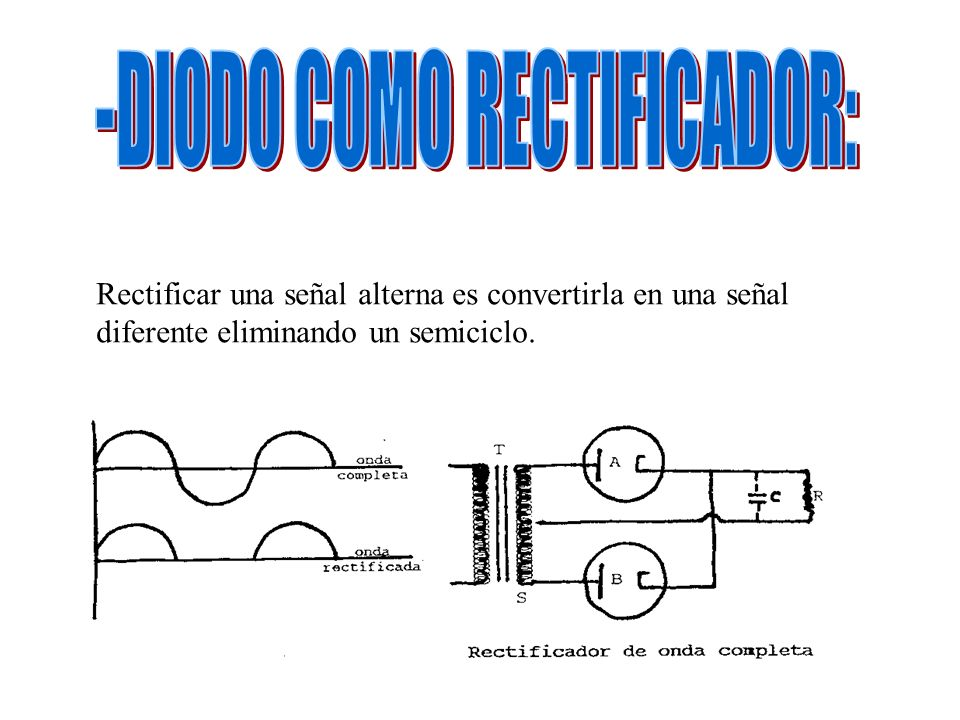 -DIODO COMO RECTIFICADOR: