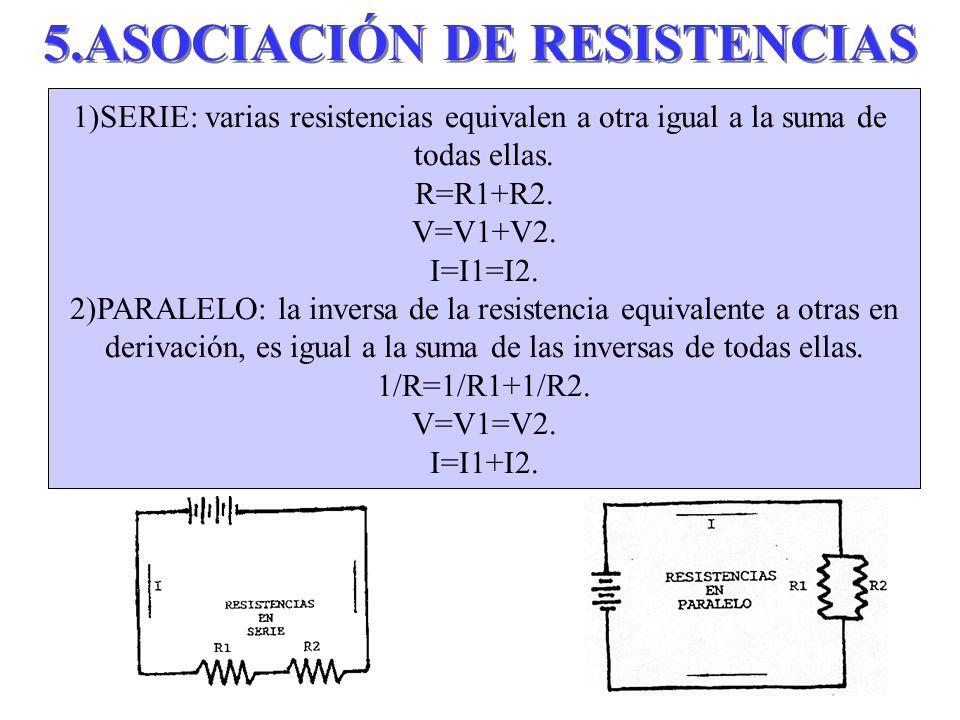 5.ASOCIACIÓN DE RESISTENCIAS
