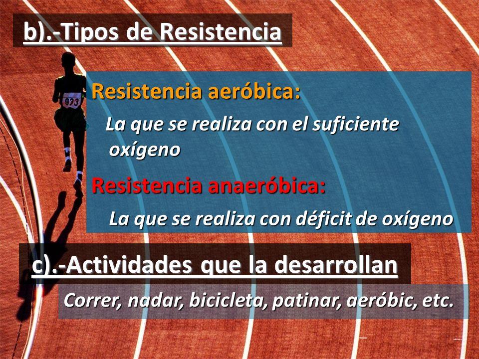 b).-Tipos de Resistencia