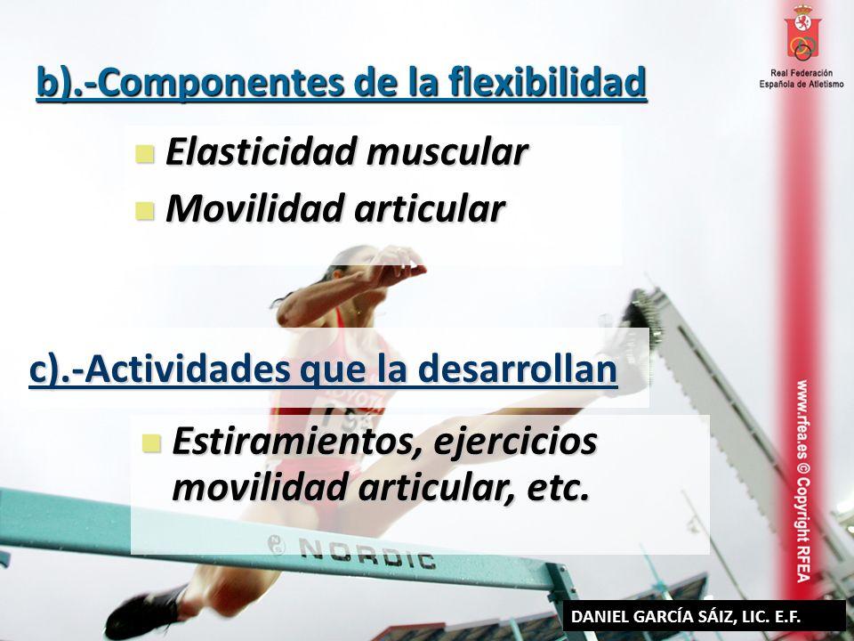 b).-Componentes de la flexibilidad