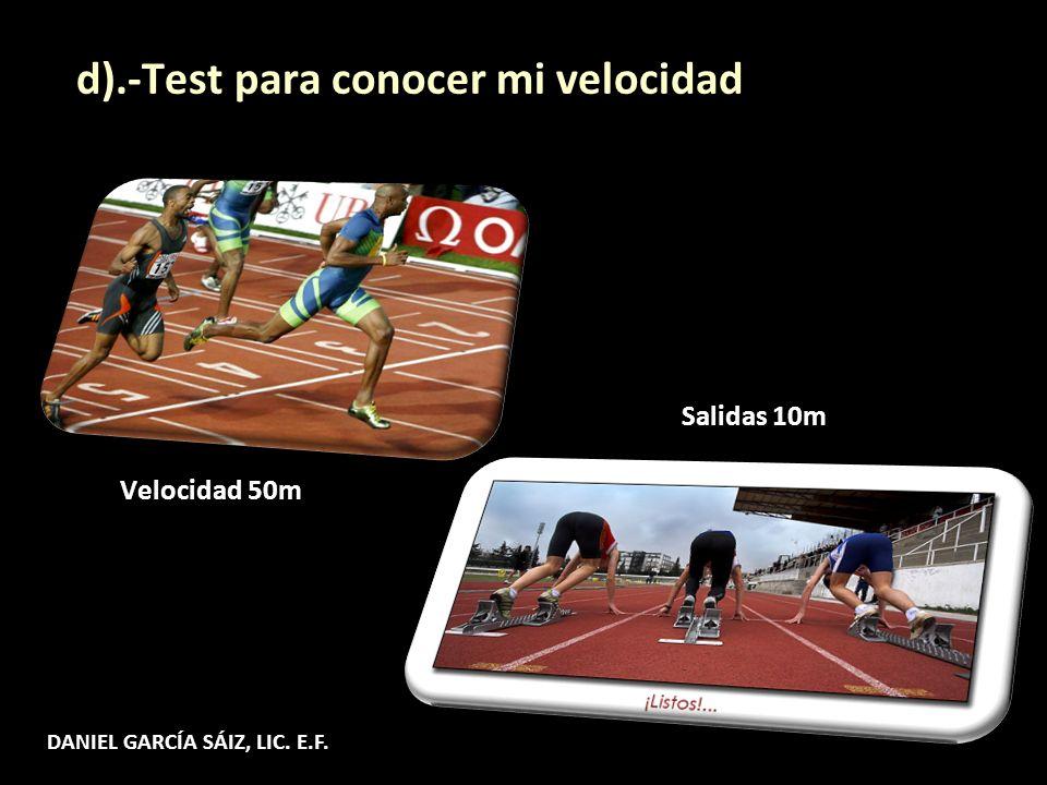 d).-Test para conocer mi velocidad