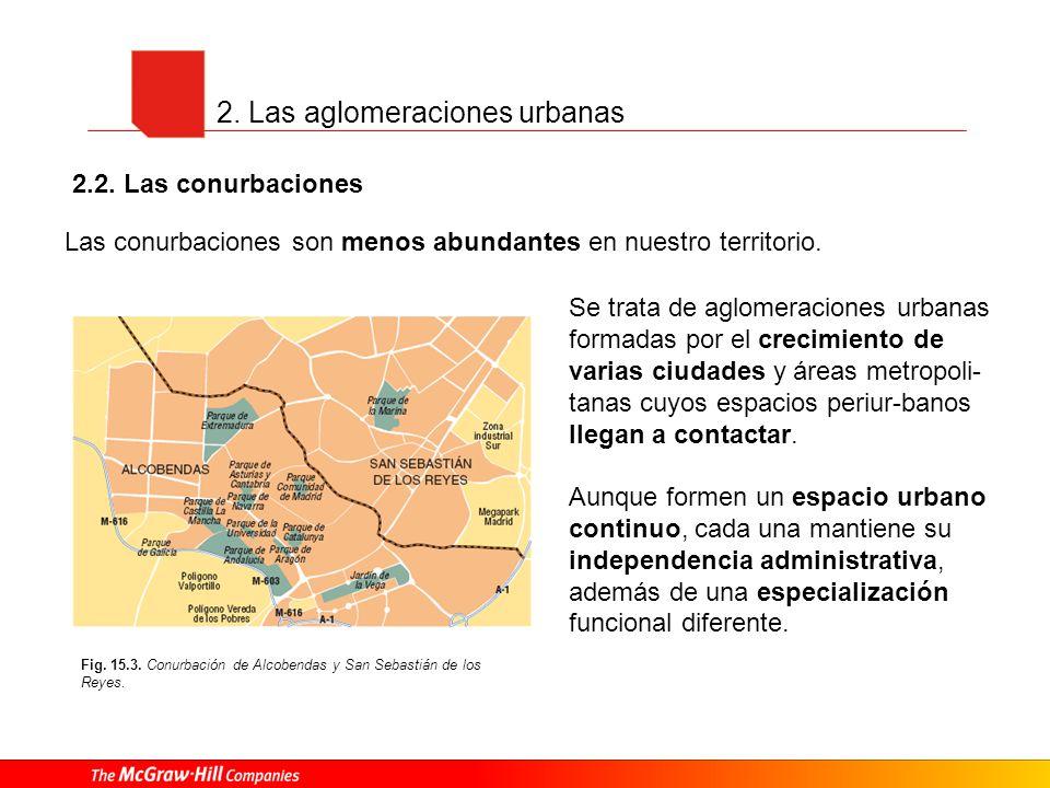 2. Las aglomeraciones urbanas