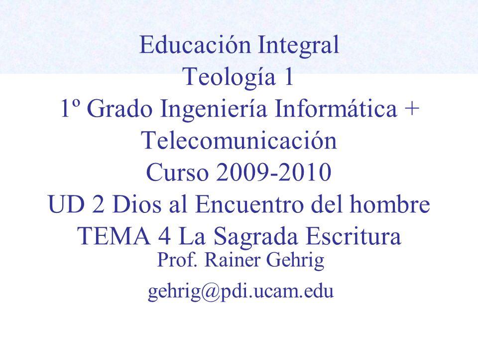 Prof. Rainer Gehrig gehrig@pdi.ucam.edu