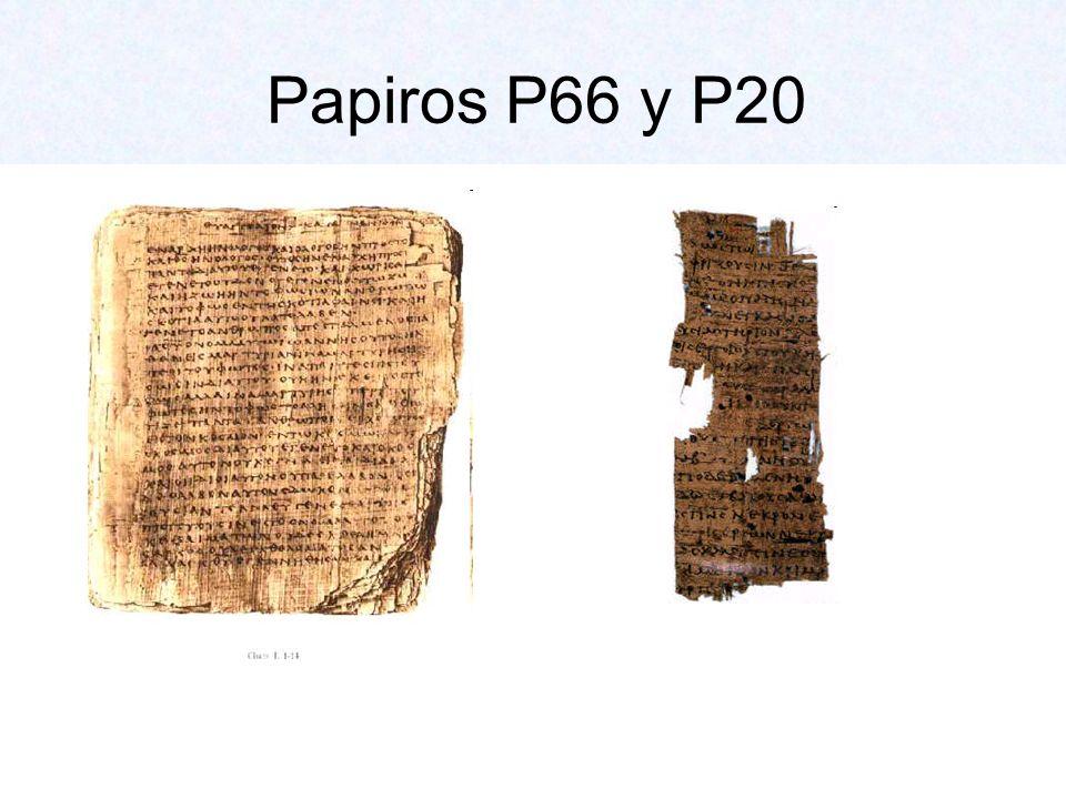 Papiros P66 y P20