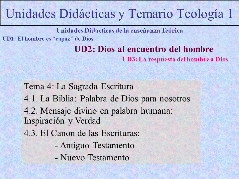 Unidades Didácticas y Temario Teología 1