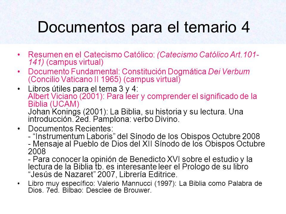 Documentos para el temario 4