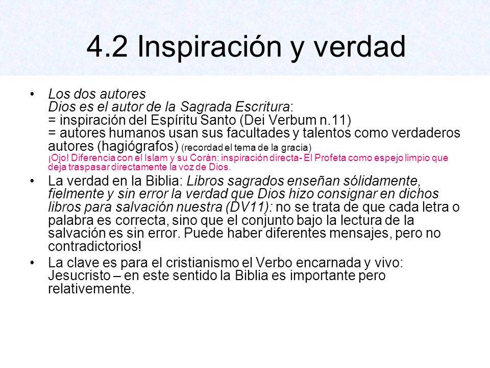 4.2 Inspiración y verdad