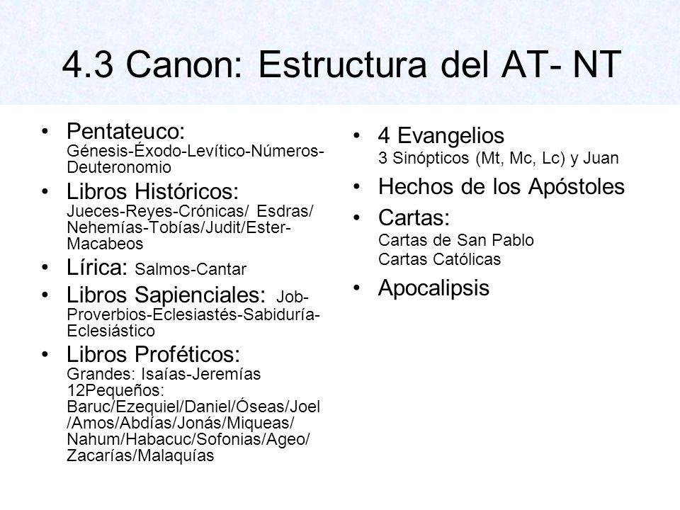 4.3 Canon: Estructura del AT- NT
