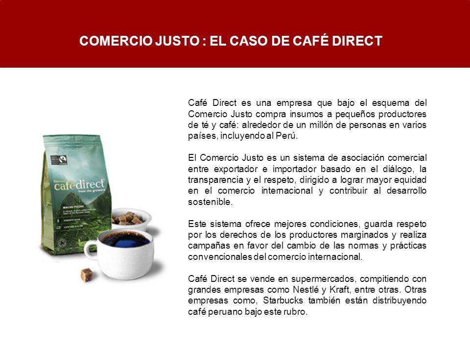 COMERCIO JUSTO : EL CASO DE CAFÉ DIRECT