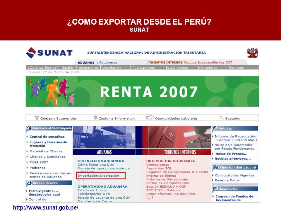 ¿COMO EXPORTAR DESDE EL PERÚ