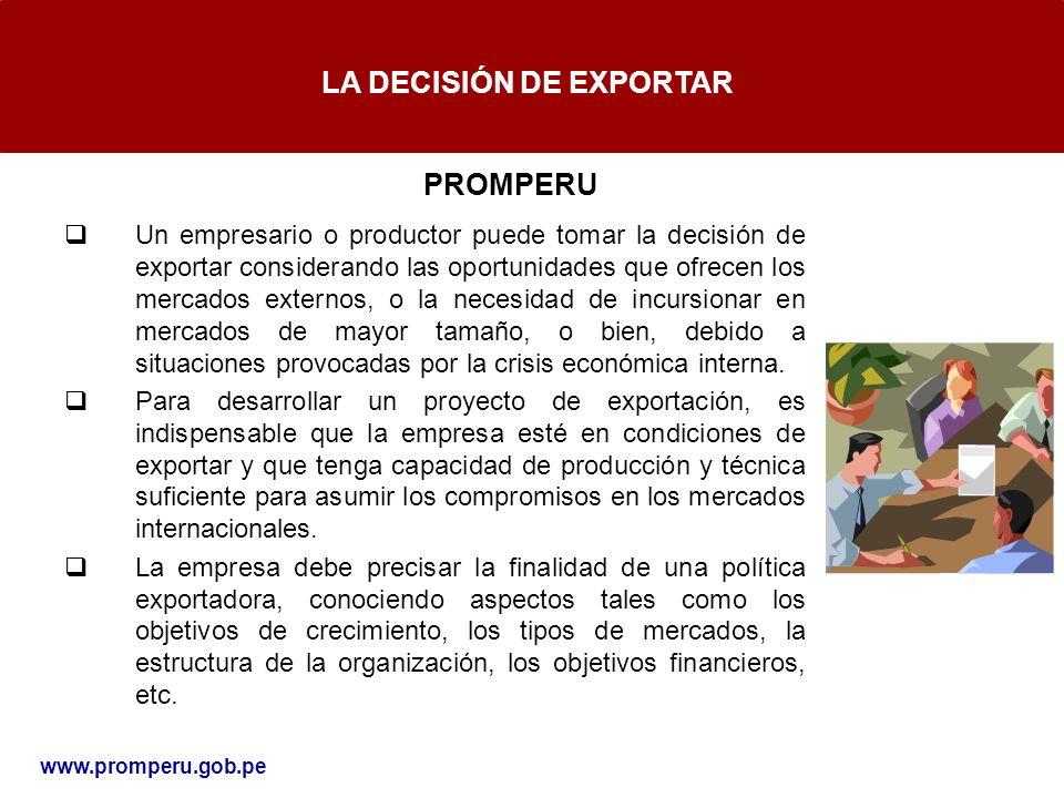 LA DECISIÓN DE EXPORTAR