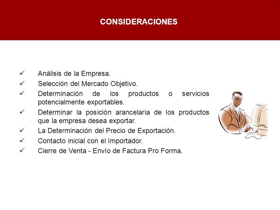 CONSIDERACIONES Análisis de la Empresa.