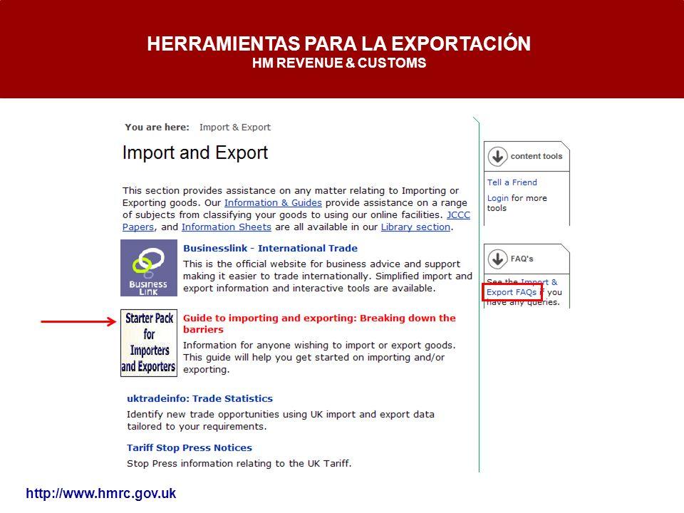 HERRAMIENTAS PARA LA EXPORTACIÓN