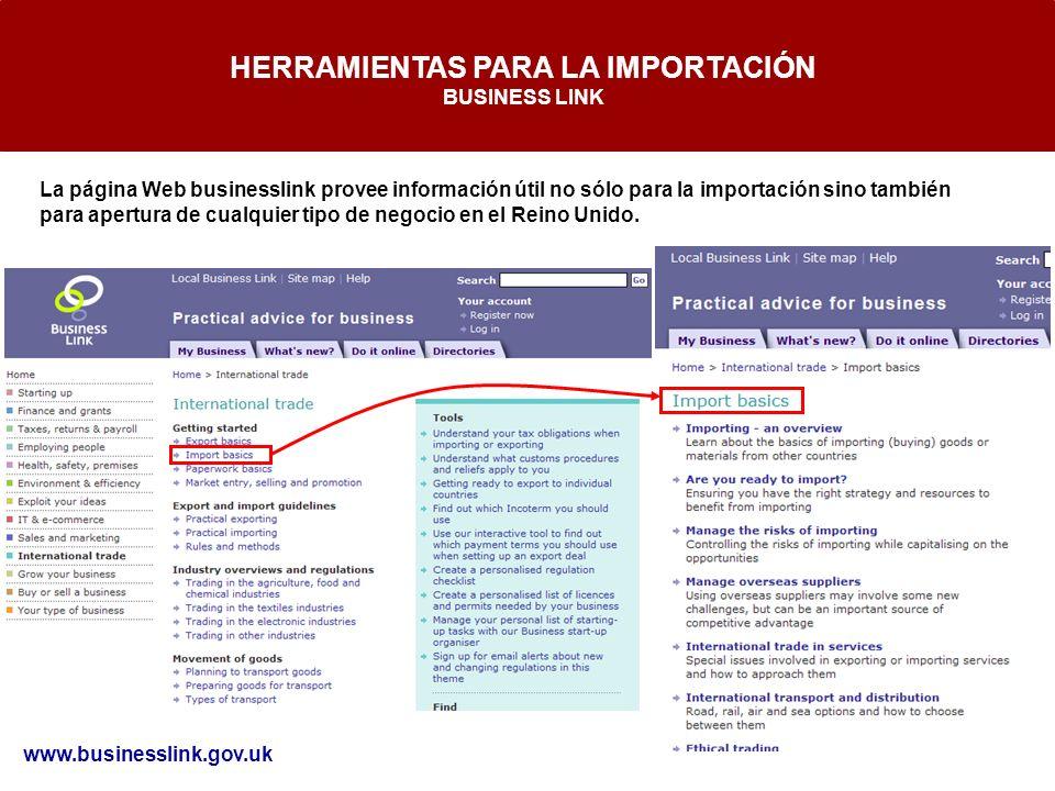 HERRAMIENTAS PARA LA IMPORTACIÓN