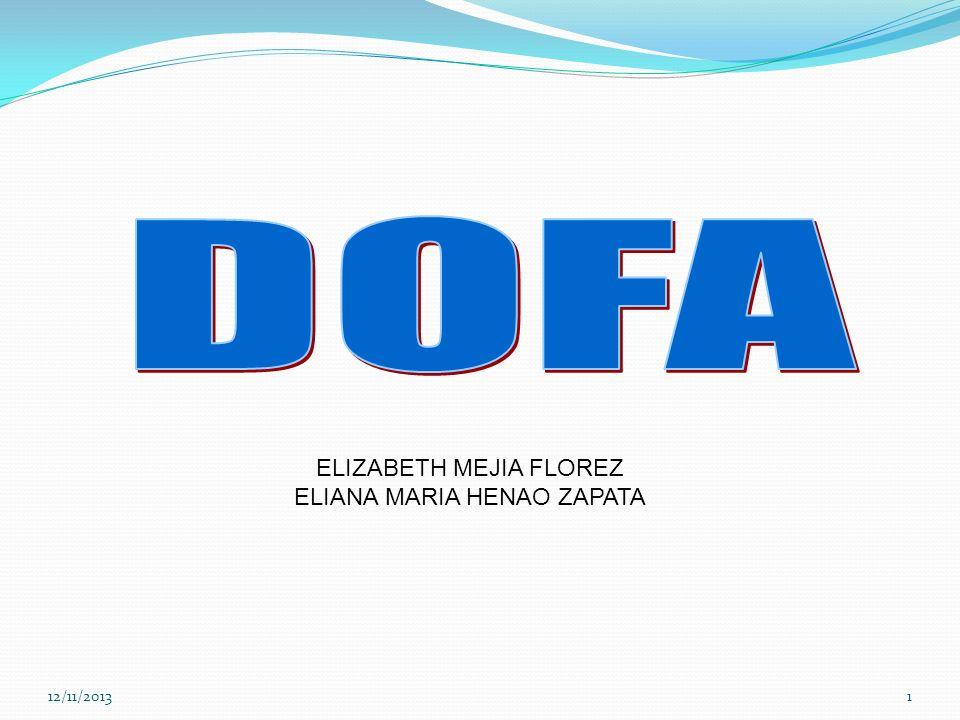 DOFA ELIZABETH MEJIA FLOREZ ELIANA MARIA HENAO ZAPATA 23/03/2017