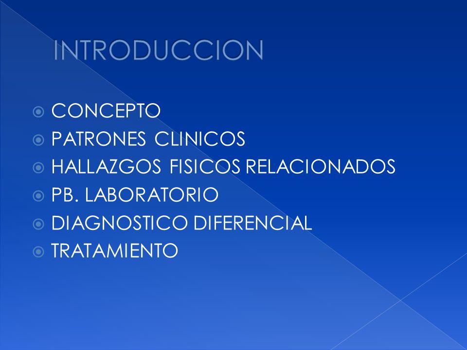 INTRODUCCION CONCEPTO PATRONES CLINICOS HALLAZGOS FISICOS RELACIONADOS