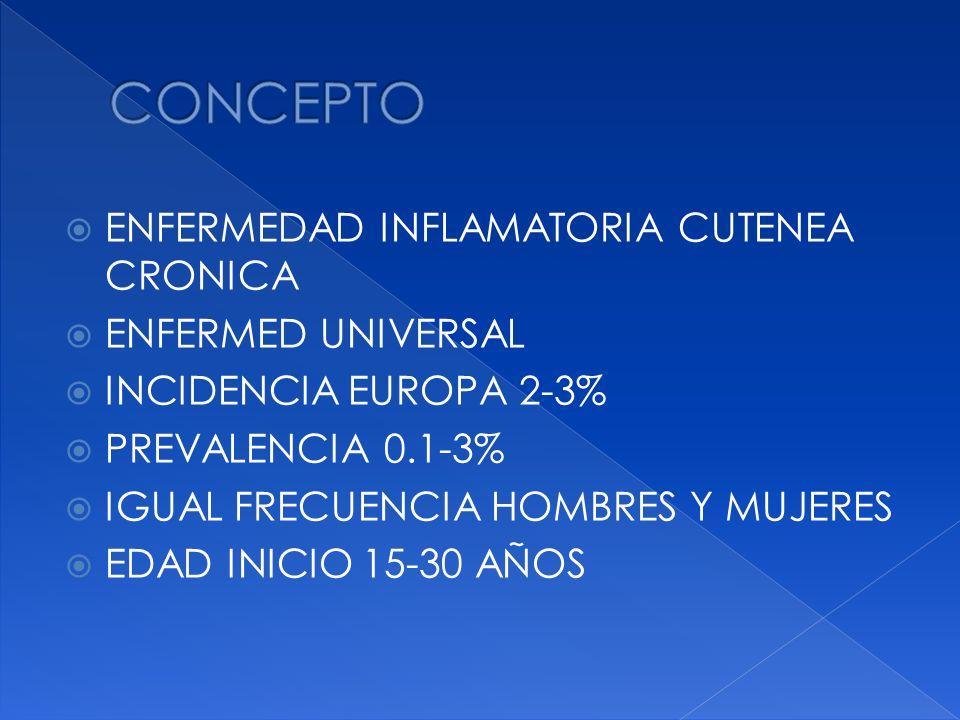 CONCEPTO ENFERMEDAD INFLAMATORIA CUTENEA CRONICA ENFERMED UNIVERSAL