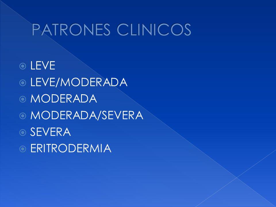 PATRONES CLINICOS LEVE LEVE/MODERADA MODERADA MODERADA/SEVERA SEVERA