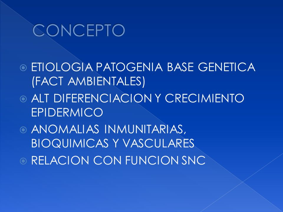 CONCEPTO ETIOLOGIA PATOGENIA BASE GENETICA (FACT AMBIENTALES)