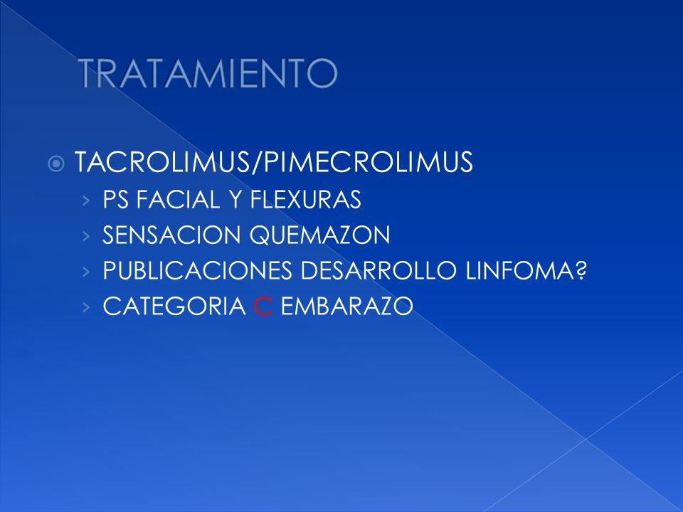 TRATAMIENTO TACROLIMUS/PIMECROLIMUS PS FACIAL Y FLEXURAS