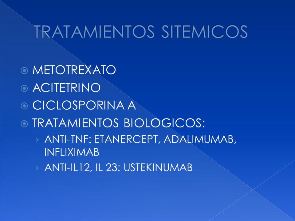 TRATAMIENTOS SITEMICOS