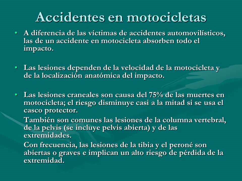 Accidentes en motocicletas