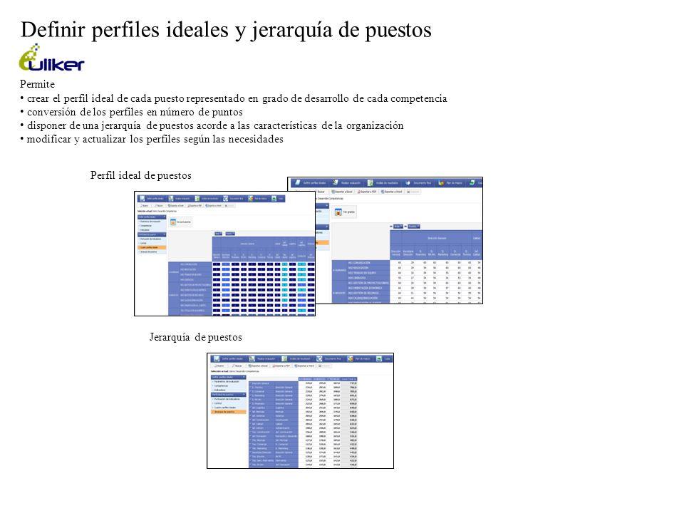 Definir perfiles ideales y jerarquía de puestos