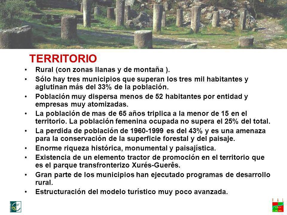 TERRITORIO Rural (con zonas llanas y de montaña ).
