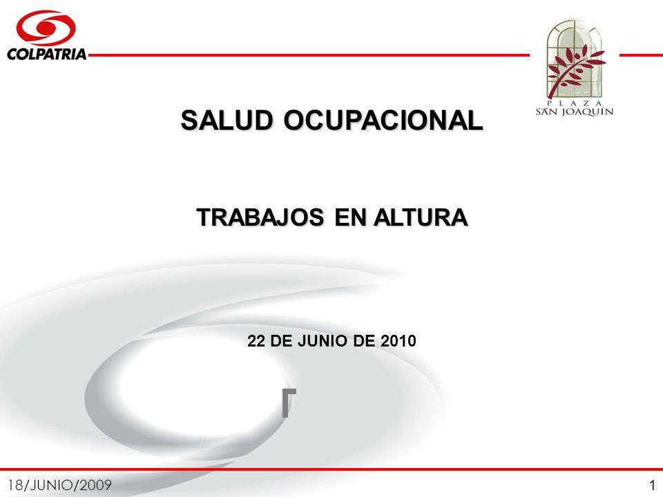 SALUD OCUPACIONAL TRABAJOS EN ALTURA 22 DE JUNIO DE 2010 1