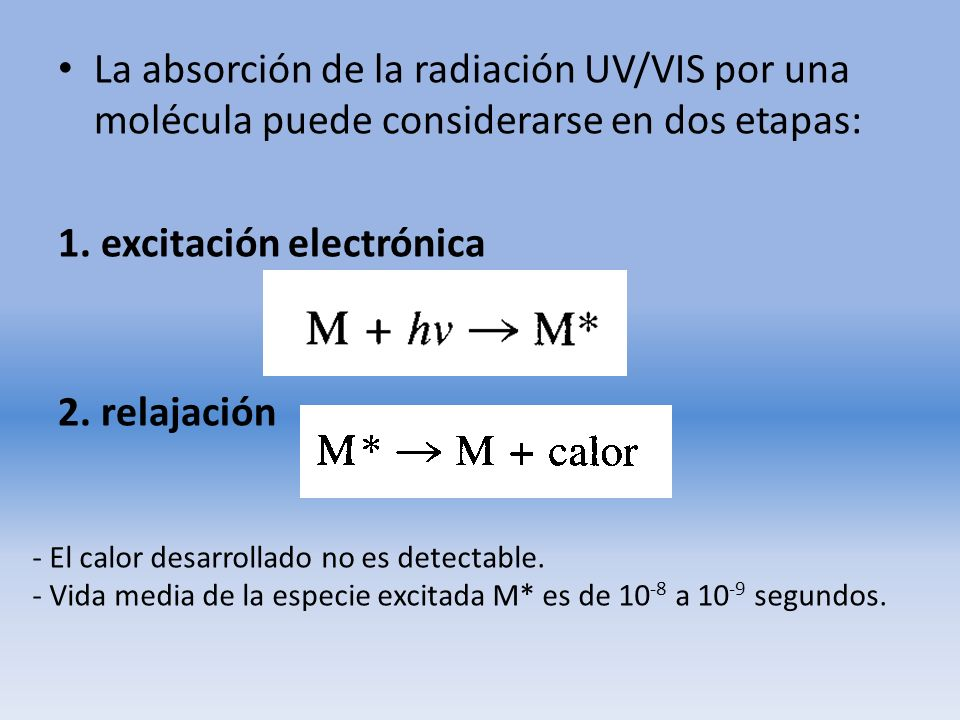 1. excitación electrónica