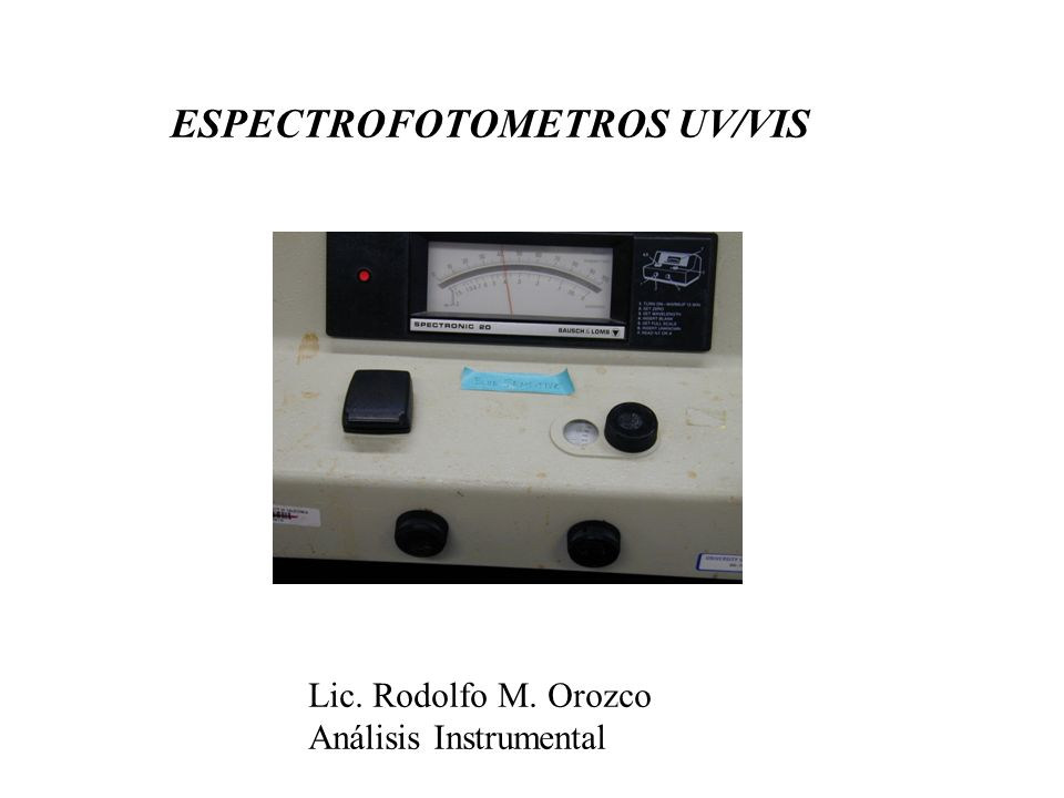 ESPECTROFOTOMETROS UV/VIS