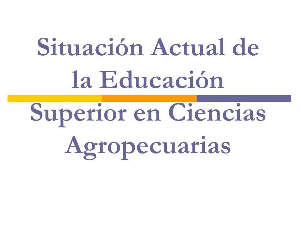 Situación Actual de la Educación Superior en Ciencias Agropecuarias