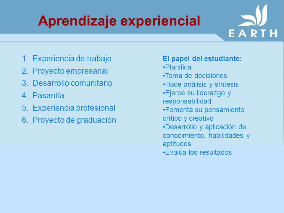 Aprendizaje experiencial