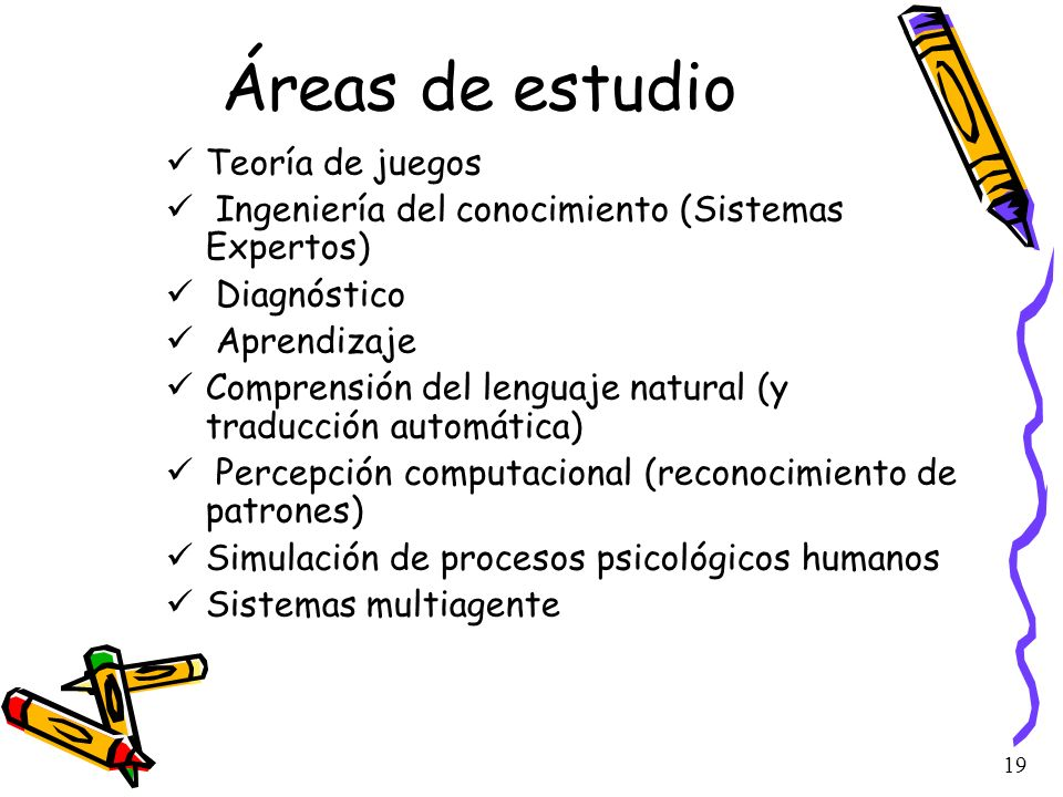Áreas de estudio Teoría de juegos