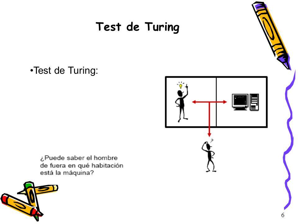 Test de Turing Test de Turing: