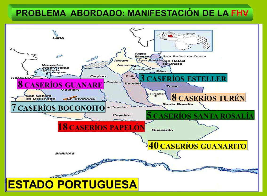PROBLEMA ABORDADO: MANIFESTACIÓN DE LA FHV 5 CASERÍOS SANTA ROSALÍA