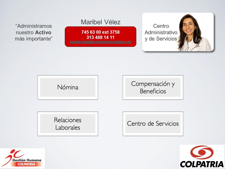 Maribel Vélez Administramos nuestro Activo más importante