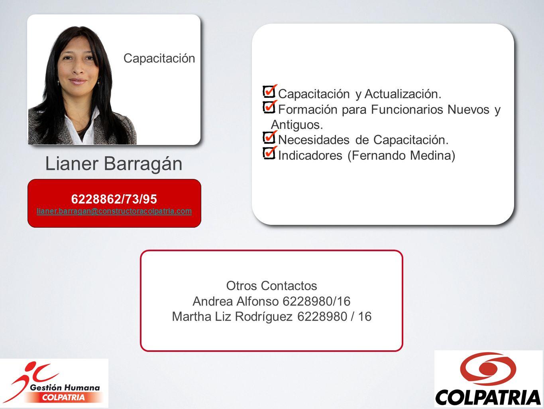 Lianer Barragán Capacitación Capacitación y Actualización.
