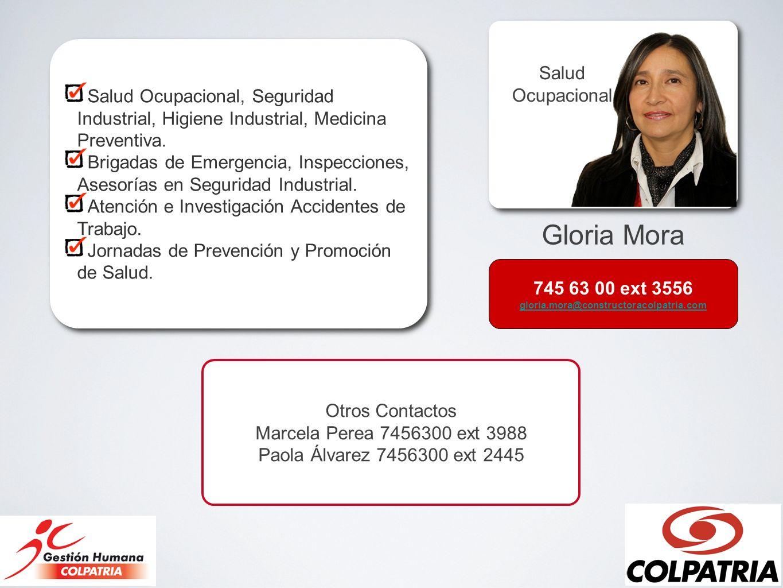 Salud Ocupacional, Seguridad Industrial, Higiene Industrial, Medicina Preventiva.