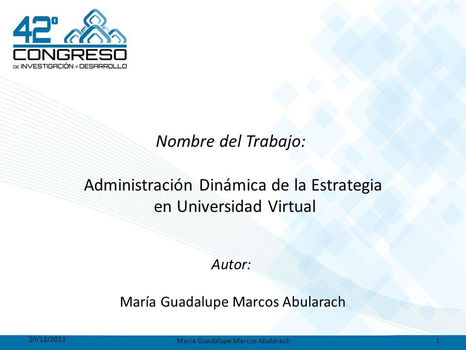Administración Dinámica de la Estrategia en Universidad Virtual