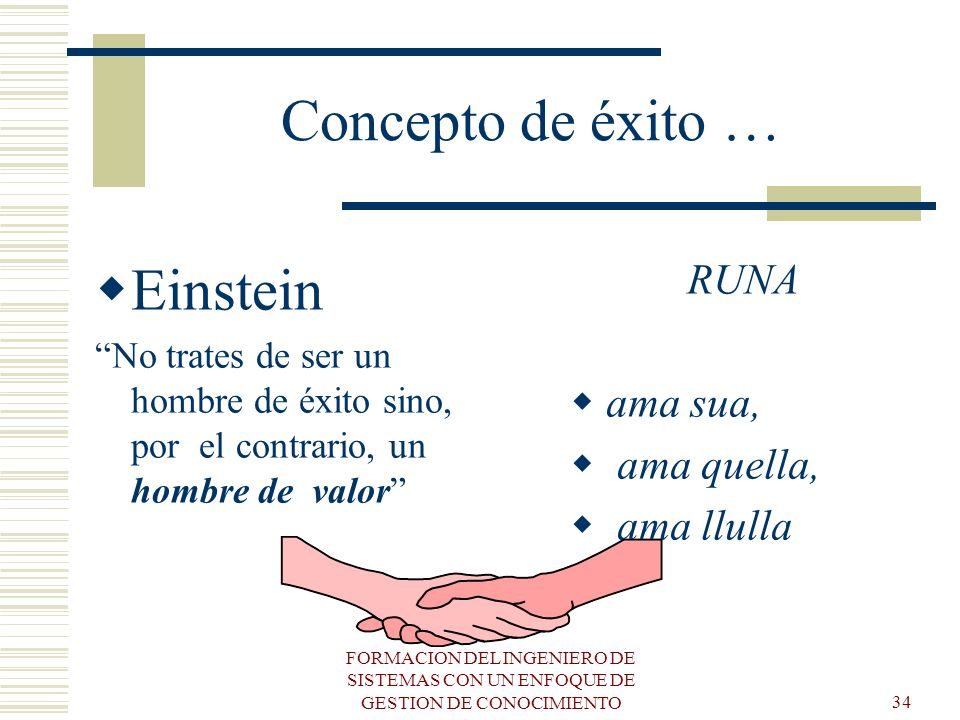 Concepto de éxito … Einstein RUNA ama sua, ama quella, ama llulla