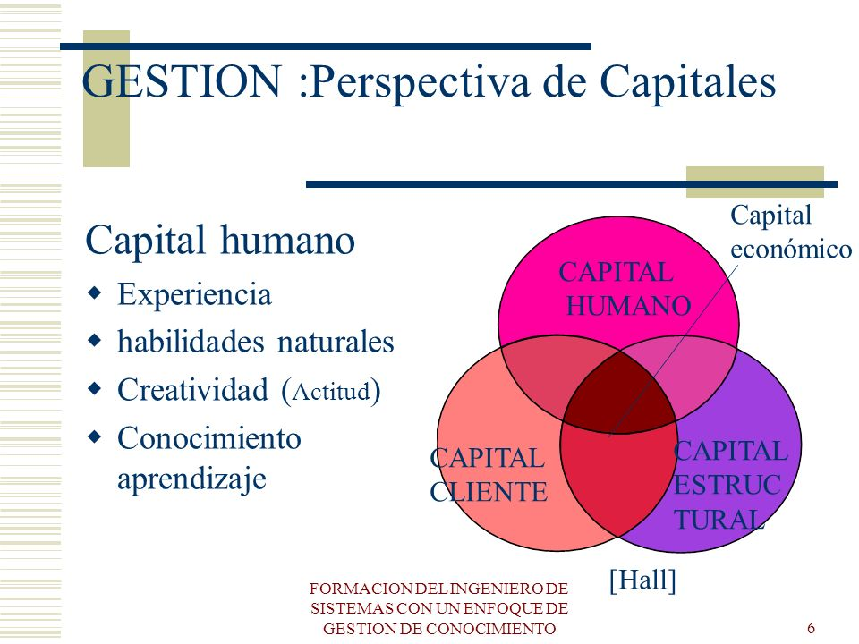 GESTION :Perspectiva de Capitales