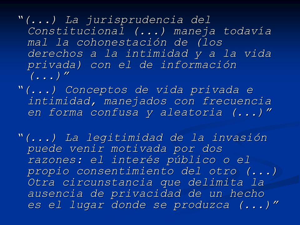(. ) La jurisprudencia del Constitucional (
