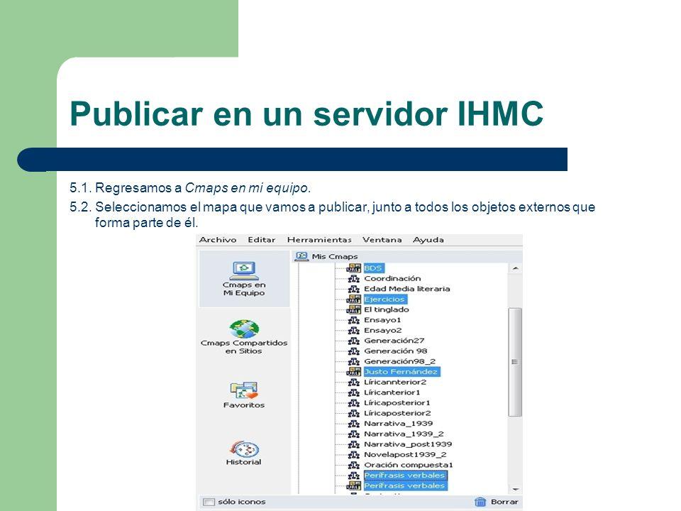 Publicar en un servidor IHMC