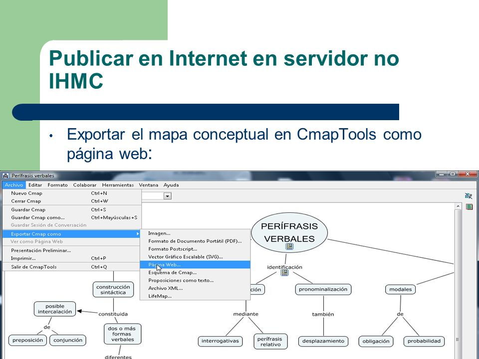 Publicar en Internet en servidor no IHMC